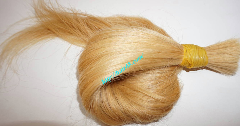 14 inch blonde hair straight single drawn 1