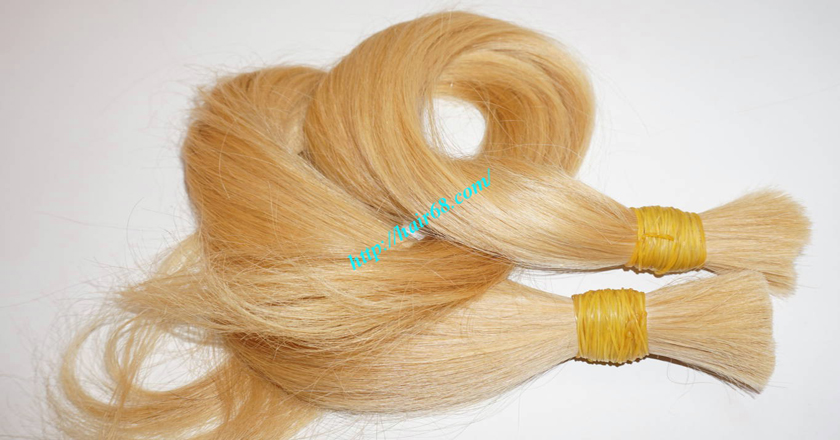 14 inch blonde hair straight single drawn 2
