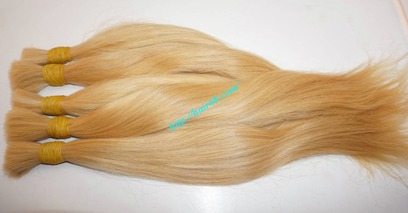 14 inch blonde hair straight single drawn 3