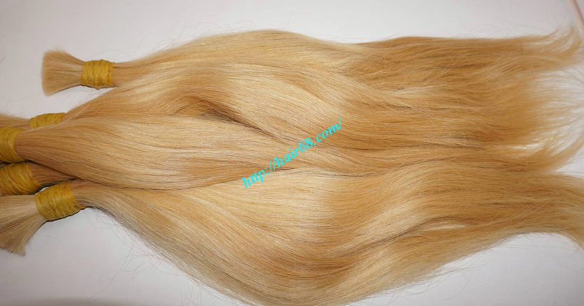 14 inch blonde hair straight single drawn 4
