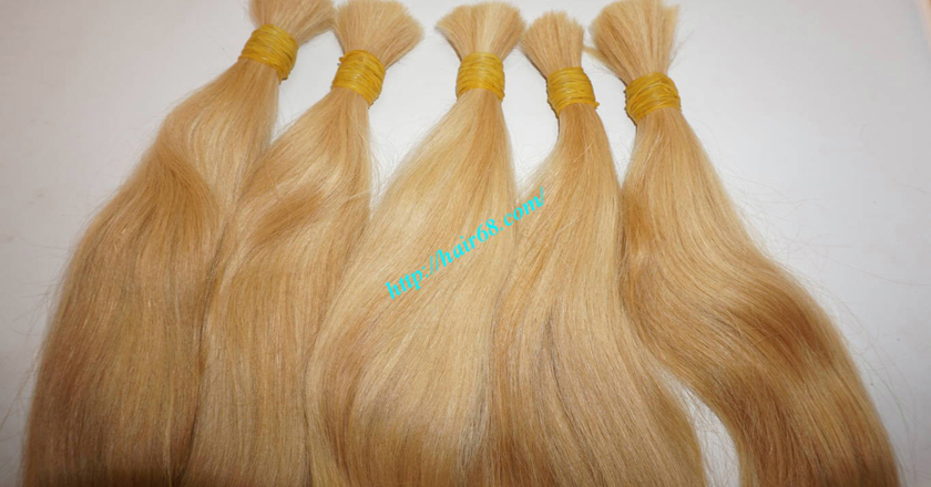 14 inch blonde hair straight single drawn 6