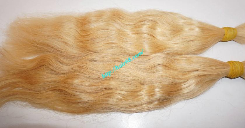 14 inch blonde hair wavy double drawn 1