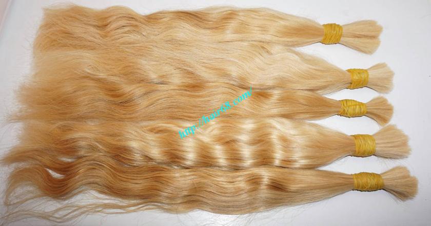 14 inch blonde hair wavy double drawn 3
