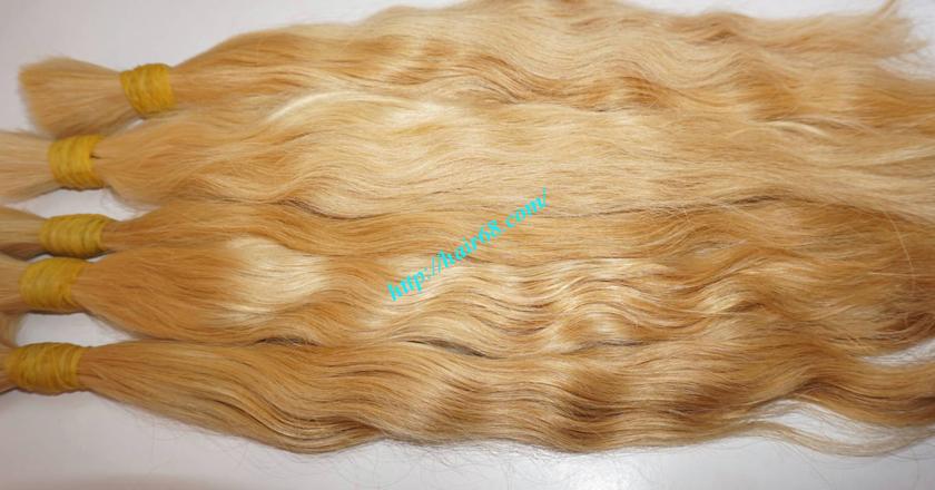 14 inch blonde hair wavy single drawn 1