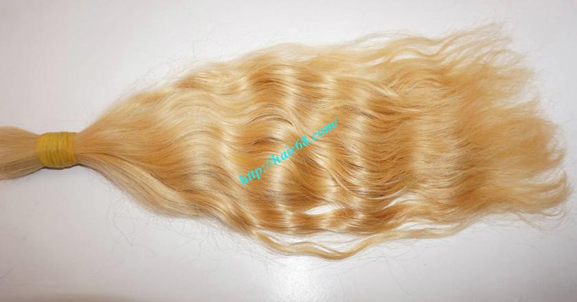 14 inch blonde hair wavy single drawn 2