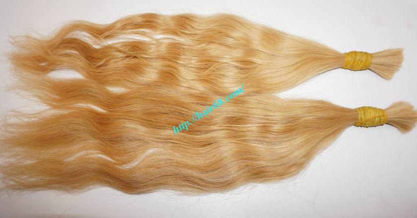14 inch blonde hair wavy single drawn 3