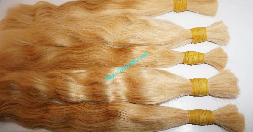 14 inch blonde hair wavy single drawn 4