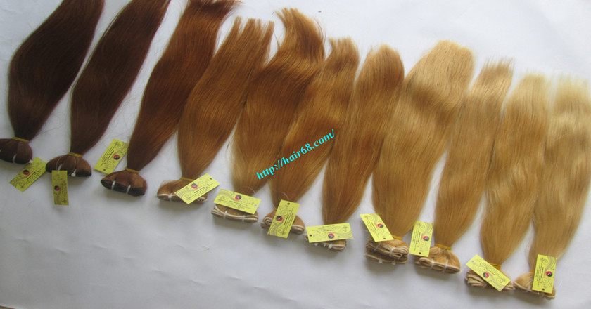 14 inch blonde weave hair straight remy hair 10
