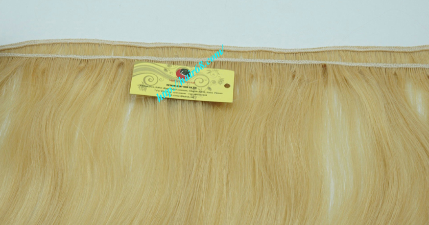 14 inch blonde weave hair straight remy hair 2
