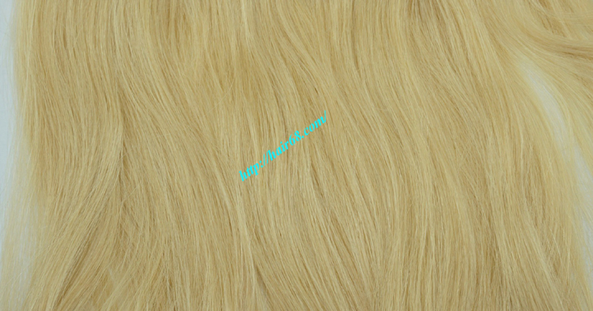 14 inch blonde weave hair straight remy hair 3