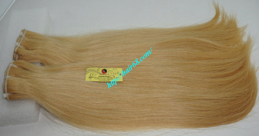 14 inch blonde weave hair straight remy hair 6