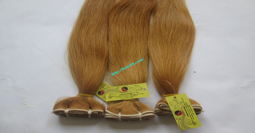 14 inch blonde weave hair straight remy hair 7