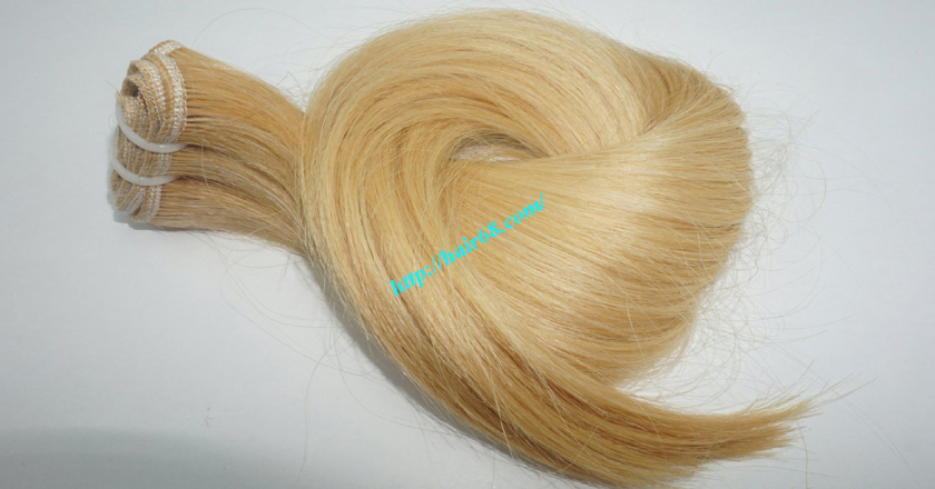 14 inch blonde weave hair straight remy hair 9