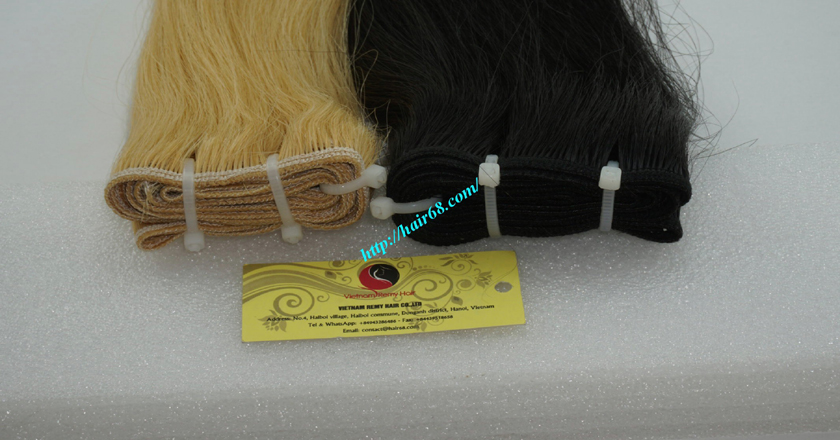 14 inch cheap blonde weave hair extensions 1