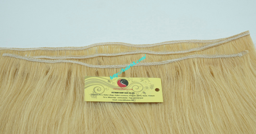 14 inch cheap blonde weave hair extensions 2