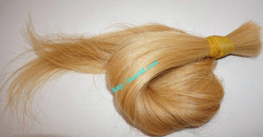 16 inch blonde hair straight single drawn 2