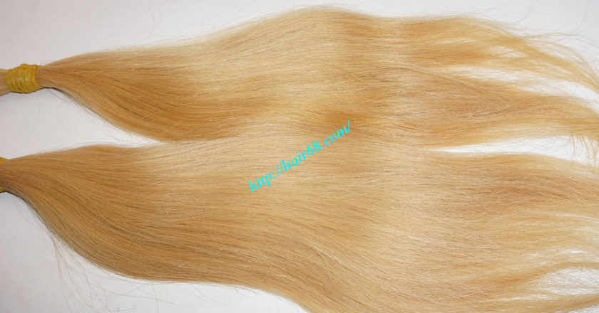 16 inch blonde hair straight single drawn 3