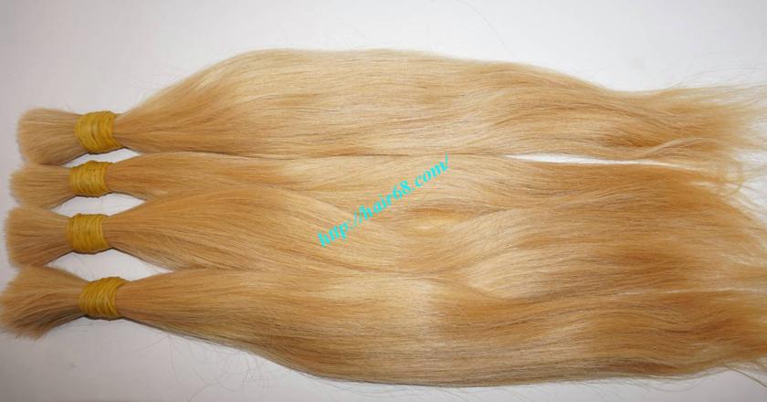 16 inch blonde hair straight single drawn 6