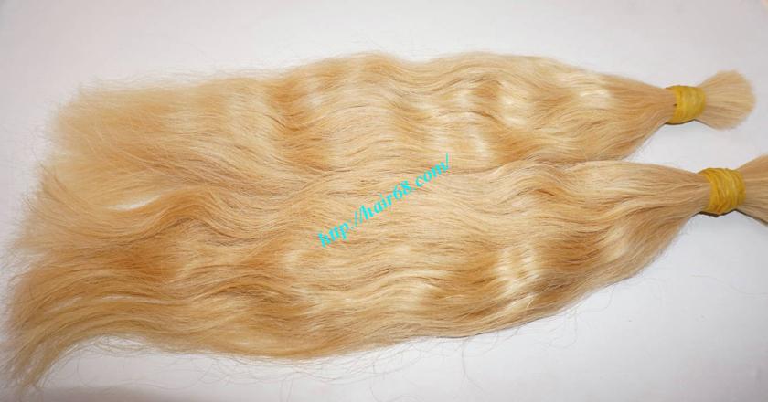 16 inch blonde hair wavy double drawn 2