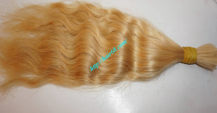 16 inch blonde hair wavy single drawn 1