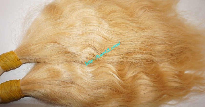 16 inch blonde hair wavy single drawn 2