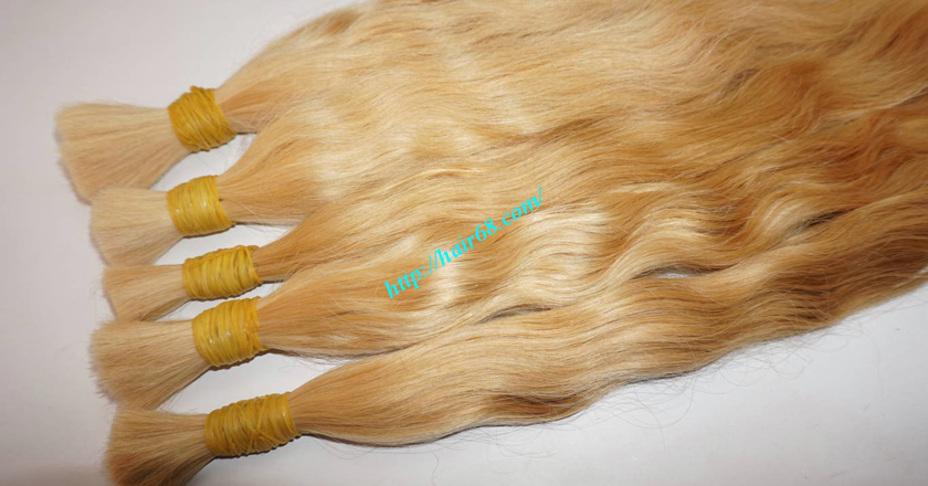 16 inch blonde hair wavy single drawn 3