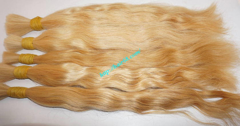 16 inch blonde hair wavy single drawn 4