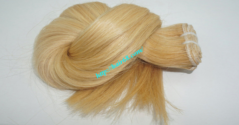 16 inch blonde weave hair straight remy hair 10