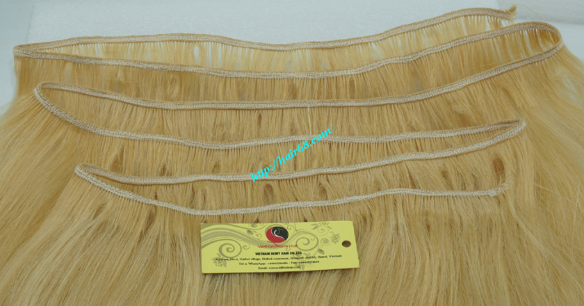 16 inch blonde weave hair straight remy hair 2