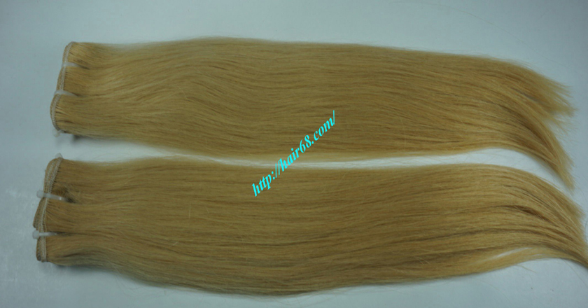 16 inch blonde weave hair straight remy hair 5