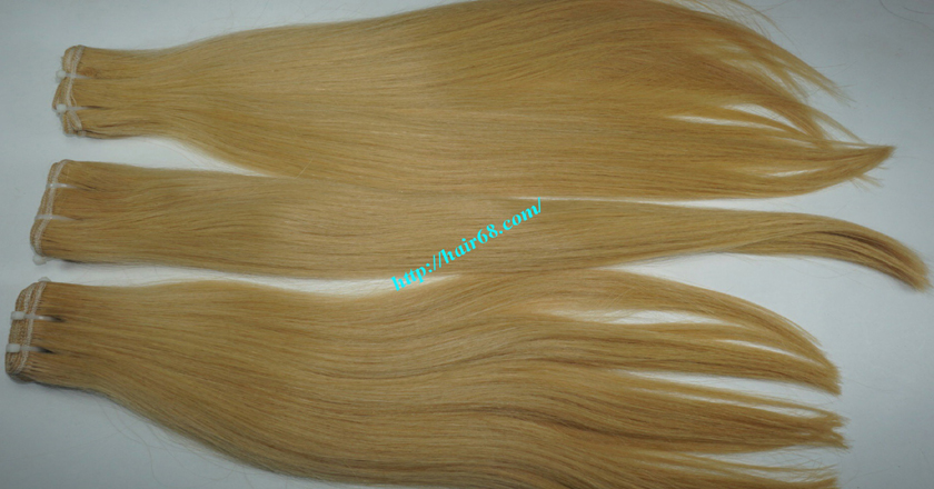 16 inch blonde weave hair straight remy hair 6