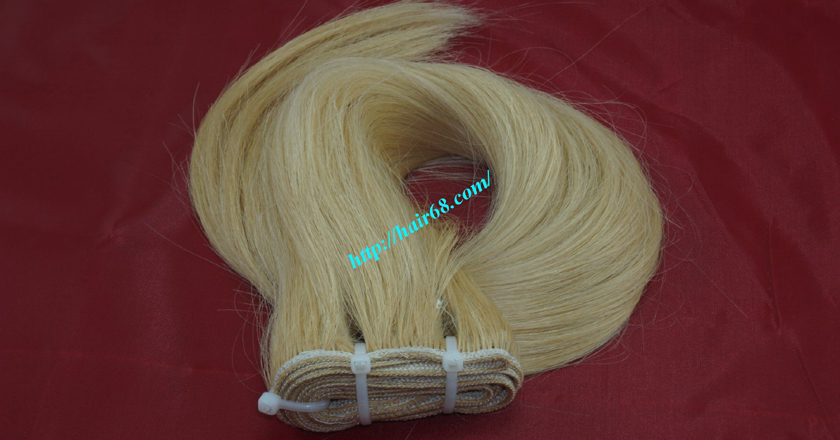 16 inch blonde weave hair straight remy hair 7