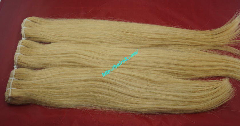 16 inch blonde weave hair straight remy hair 8