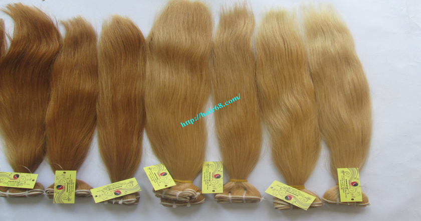 16 inch blonde weave hair straight remy hair 9