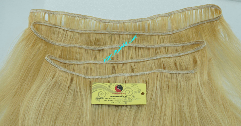 16 inch blonde weave hair extensions 2