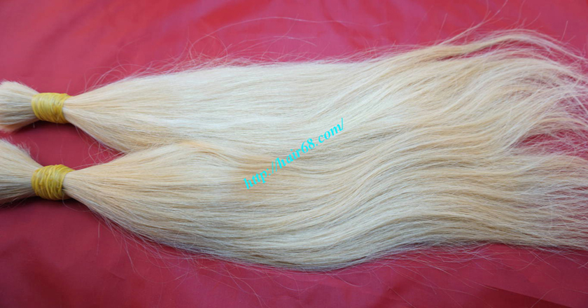 18 inch blonde hair straight single drawn 1