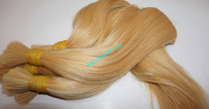 18 inch blonde hair straight single drawn 2