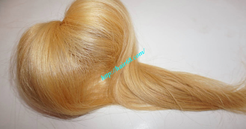 18 inch blonde hair straight single drawn 4