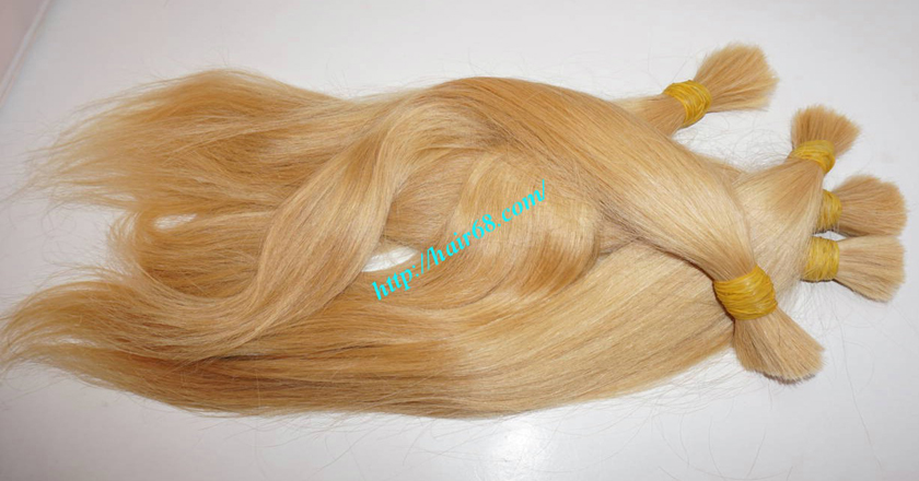 18 inch blonde hair straight single drawn 5