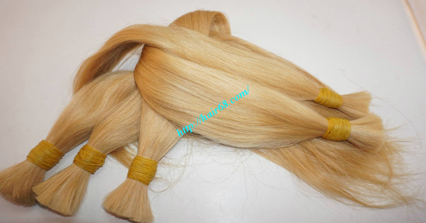 18 inch blonde hair straight single drawn 6