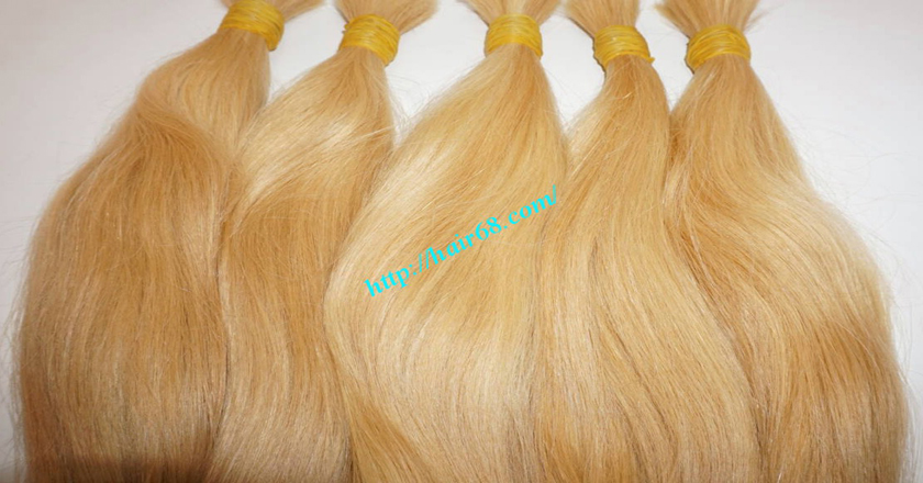 18 inch blonde hair straight single drawn 7