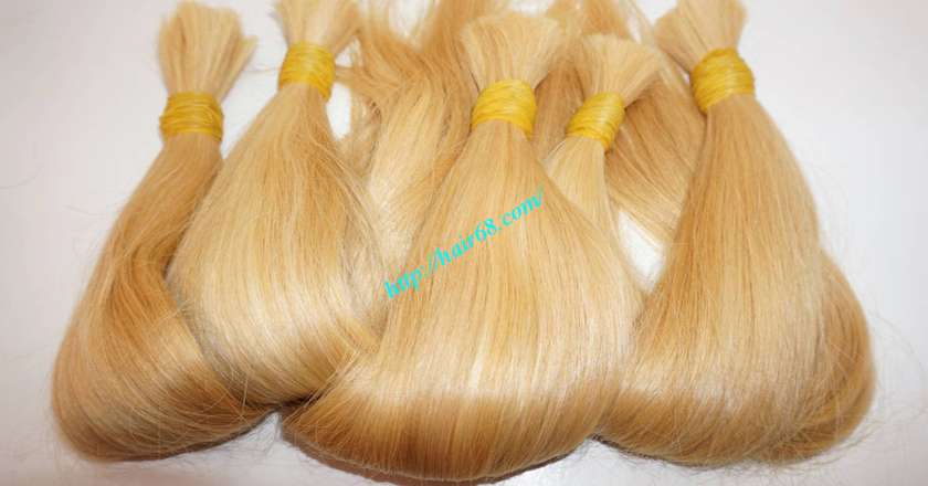 18 inch blonde hair straight single drawn 8