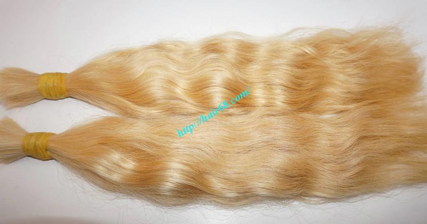 18 inch blonde hair wavy double drawn 3