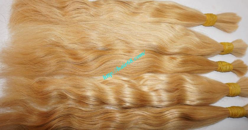 18 inch blonde hair wavy double drawn 4