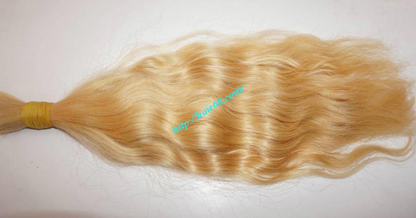 18 inch blonde hair wavy single drawn 1
