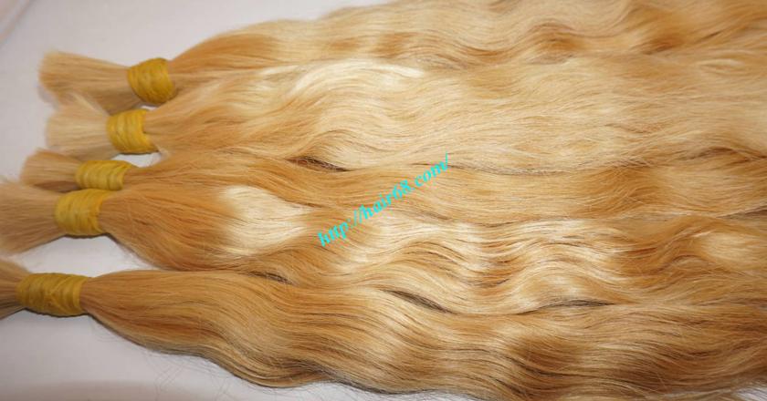 18 inch blonde hair wavy single drawn 2