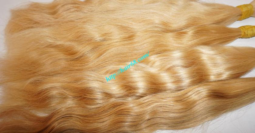 18 inch blonde hair wavy single drawn 3