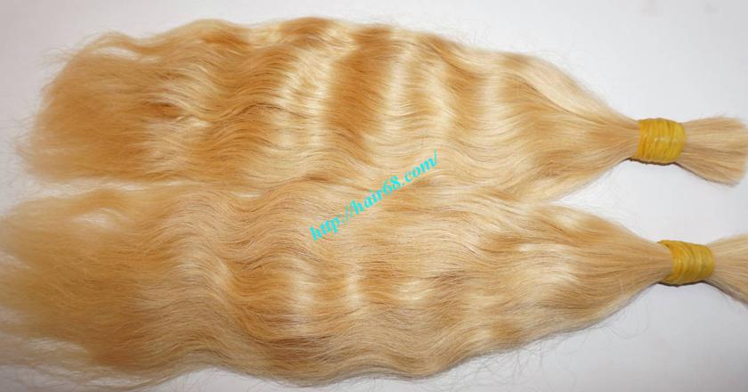 18 inch blonde hair wavy single drawn 4