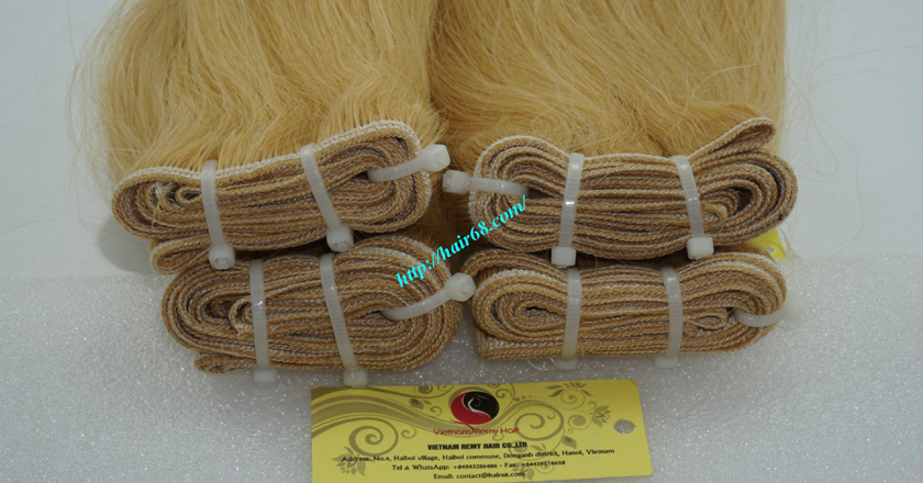 18 inch blonde weave hair straight remy hair 1