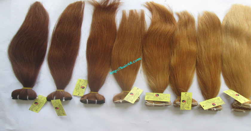 18 inch blonde weave hair straight remy hair 10